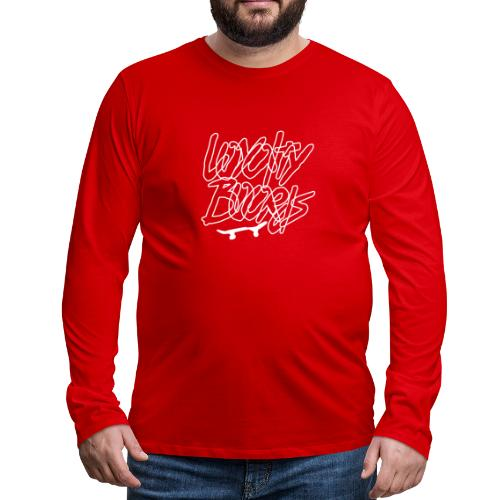 Loyalty Boards White Font With Board - Men's Premium Long Sleeve T-Shirt