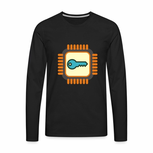 Micro Crypto Chip - Men's Premium Long Sleeve T-Shirt
