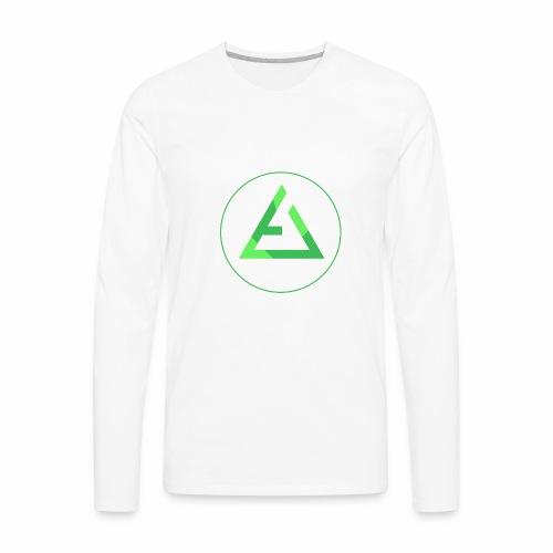crypto logo branding - Men's Premium Long Sleeve T-Shirt