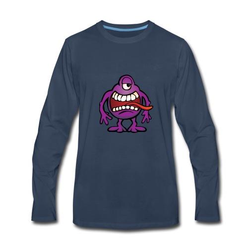 Cartoon Monster Alien - Men's Premium Long Sleeve T-Shirt