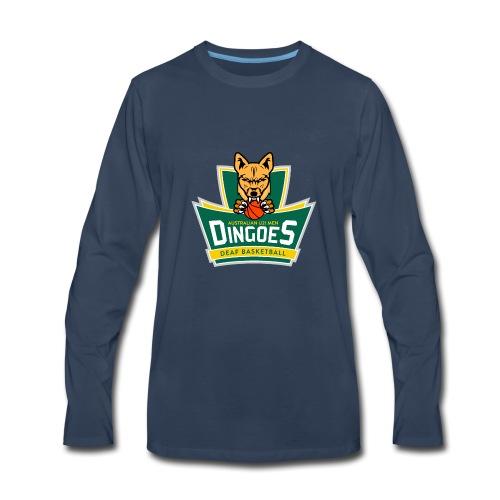 Australian U21 Men Dingoes - Deaf Basketball - Men's Premium Long Sleeve T-Shirt