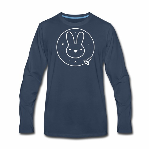 Space Bunny - To Venus And Beyond - Men's Premium Long Sleeve T-Shirt