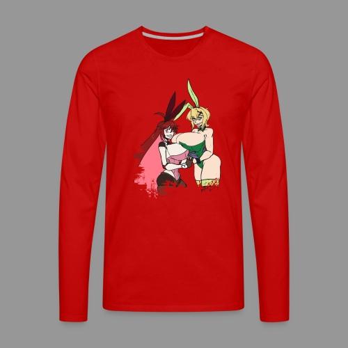 Micha and Kirika Tiddy Bunsuit - Men's Premium Long Sleeve T-Shirt
