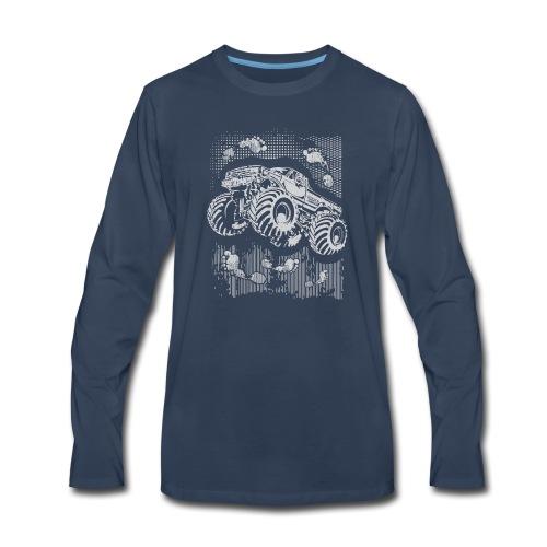 Monster Big Foot Grunge Baby & Toddler Shirts - Men's Premium Long Sleeve T-Shirt