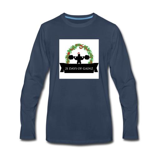 21 Days of Gains - Men's Premium Long Sleeve T-Shirt