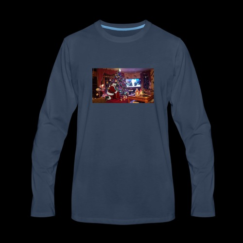 The 100% Real Santa Claws went to my grandmas home - Men's Premium Long Sleeve T-Shirt