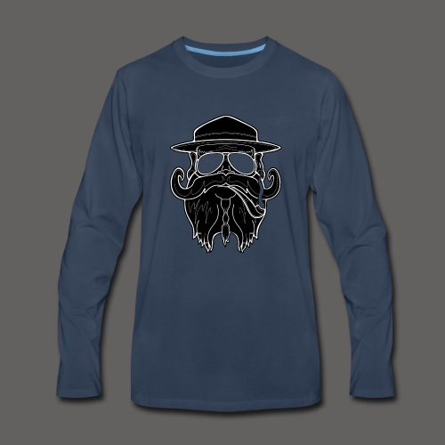 OldSchoolBiker - Men's Premium Long Sleeve T-Shirt