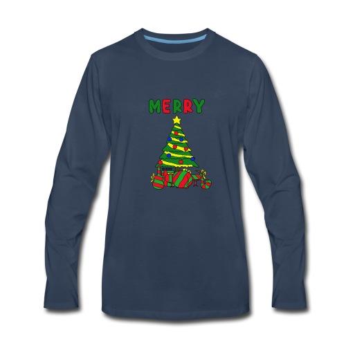 merry christmas tree instruments - Men's Premium Long Sleeve T-Shirt