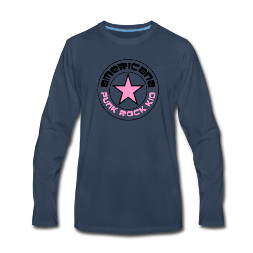 americana punk rock pink - Men's Premium Long Sleeve T-Shirt