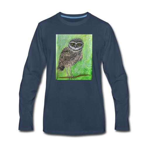 IMG 8818 Wise Owl - Men's Premium Long Sleeve T-Shirt
