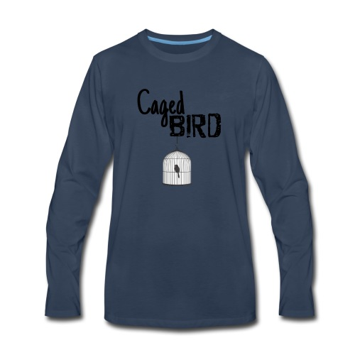 Caged Bird Abstract Design - Men's Premium Long Sleeve T-Shirt
