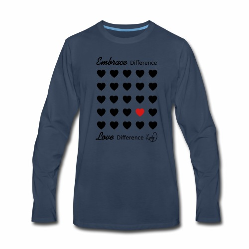 Embrace Difference, Love Difference - Men's Premium Long Sleeve T-Shirt