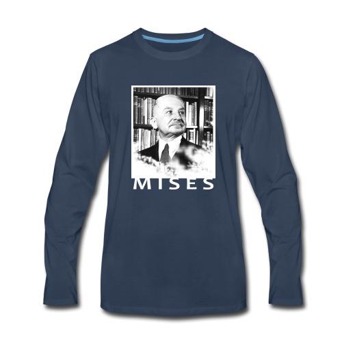 Ludwig von Mises Libertarian Design - Men's Premium Long Sleeve T-Shirt