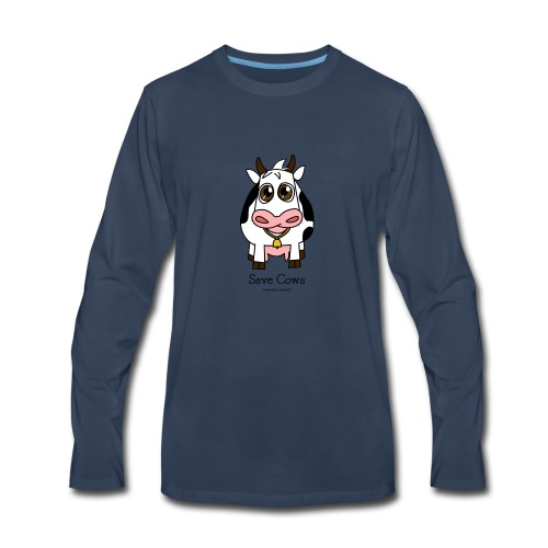 Save Cows - Men's Premium Long Sleeve T-Shirt