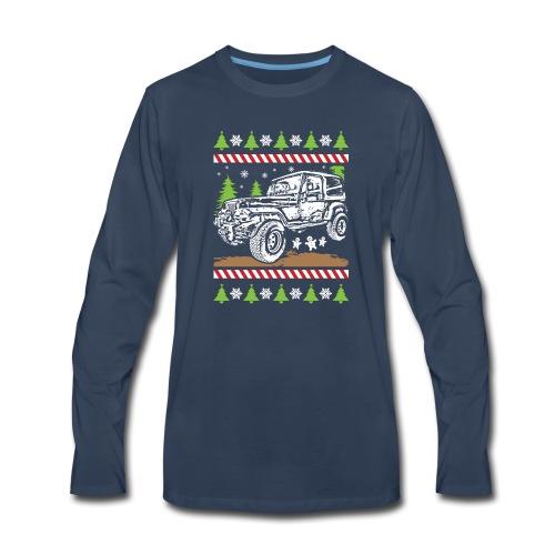 Ugly Christmas Jeeper - Men's Premium Long Sleeve T-Shirt