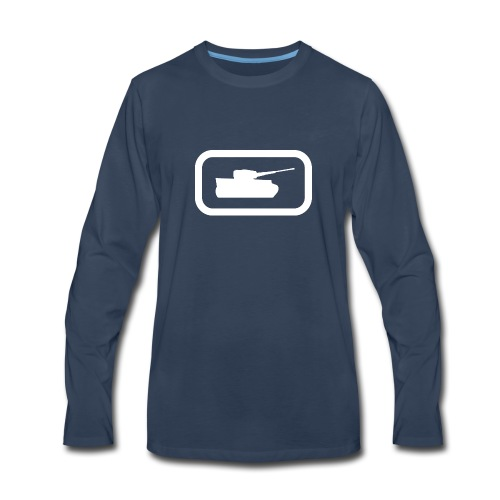 Tank Logo (White) - Axis & Allies - Men's Premium Long Sleeve T-Shirt
