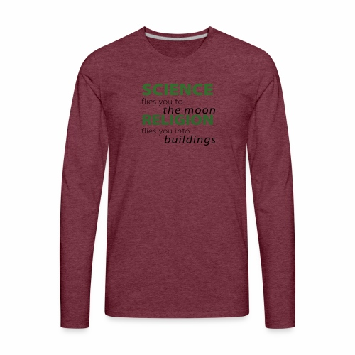 Science, Fly me to the Moon - Men's Premium Long Sleeve T-Shirt