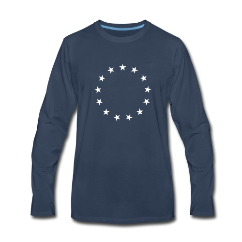 13 Stars Patriotic Circle - Men's Premium Long Sleeve T-Shirt