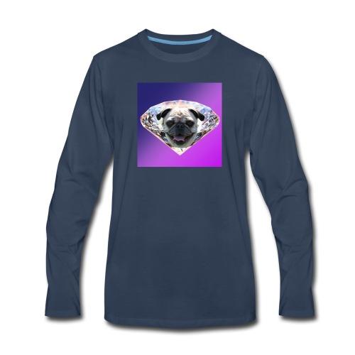 Diamond Pug - Men's Premium Long Sleeve T-Shirt