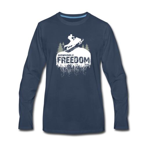 Snowmobile Freedom - Men's Premium Long Sleeve T-Shirt