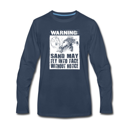 Dune Buggy Sand Warning - Men's Premium Long Sleeve T-Shirt