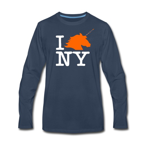 I Unicorn New York (Kristaps Porzingis) - Men's Premium Long Sleeve T-Shirt