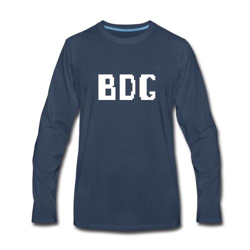 BDG 8-Bit Design White - Men's Premium Long Sleeve T-Shirt