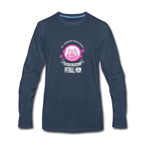 pitbullmom - Men's Premium Long Sleeve T-Shirt