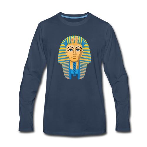 Egyptian Golden Pharaoh Burial Mask - Men's Premium Long Sleeve T-Shirt