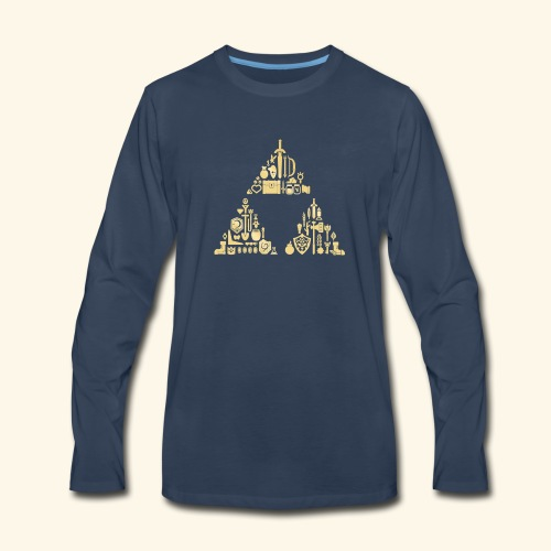 Zelda Triforce - Men's Premium Long Sleeve T-Shirt