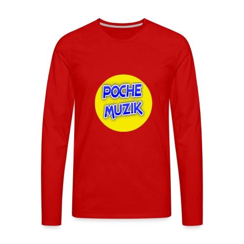 poche MUZIK - Men's Premium Long Sleeve T-Shirt