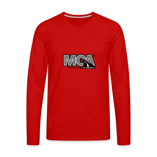 MCA Logo WBG Transparent BLACK WHITE TITLEfw fw pn - Men's Premium Long Sleeve T-Shirt