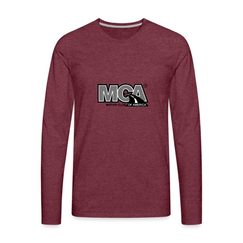 MCA Logo WBG Transparent BLACK WHITE TITLEfw fw pn - Men's Premium Long Sleeve T-Shirt