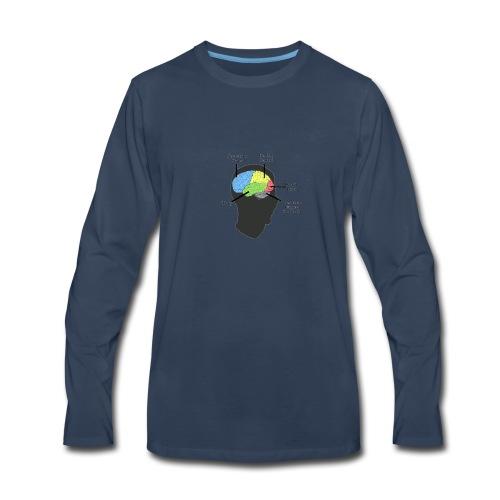 Corbin YT brain diagram - Men's Premium Long Sleeve T-Shirt