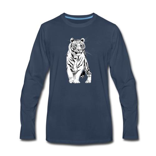 Stately White Tiger - Men's Premium Long Sleeve T-Shirt