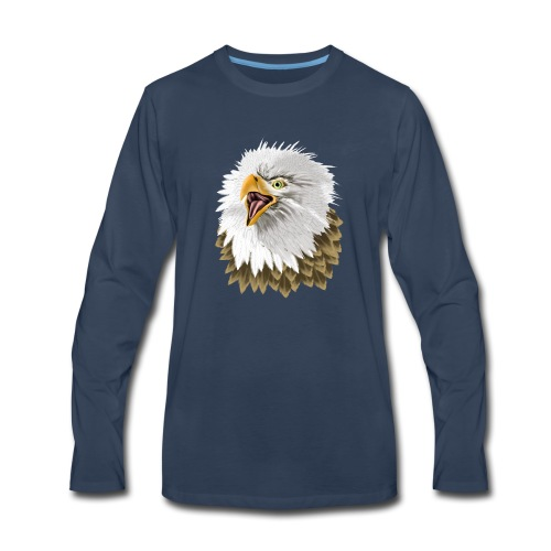 Big, Bold Eagle - Men's Premium Long Sleeve T-Shirt