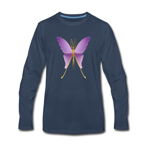 One Big Purple Butterfly - Men's Premium Long Sleeve T-Shirt