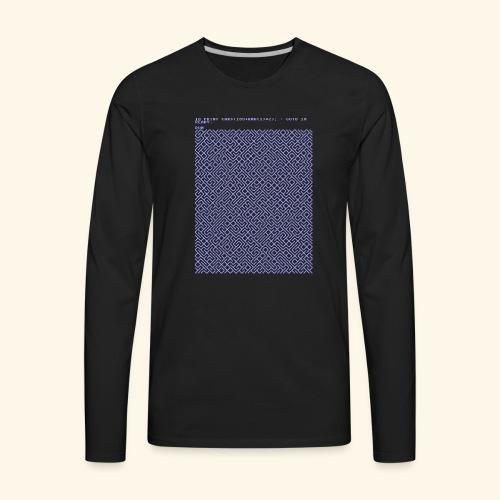 10 PRINT CHR$(205.5 RND(1)); : GOTO 10 - Men's Premium Long Sleeve T-Shirt