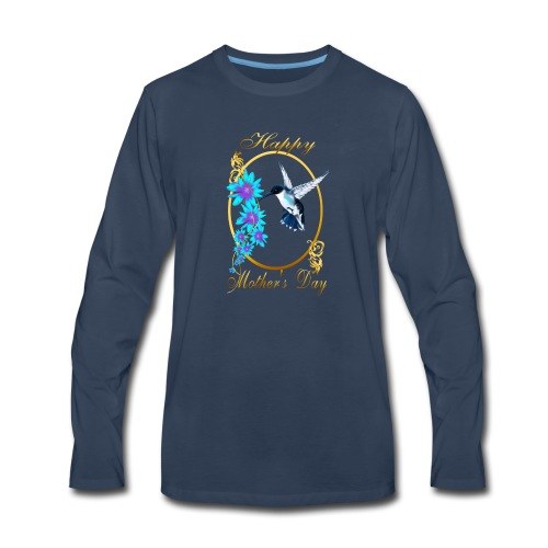 Mother's Day with humming birds - Men's Premium Long Sleeve T-Shirt