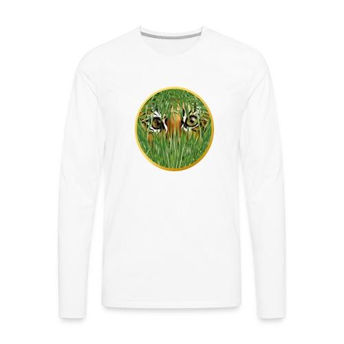 Tiger In The Grass - Men's Premium Long Sleeve T-Shirt