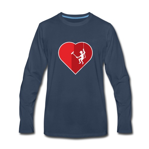 Heart cleaning by a professional window cleaner - Men's Premium Long Sleeve T-Shirt