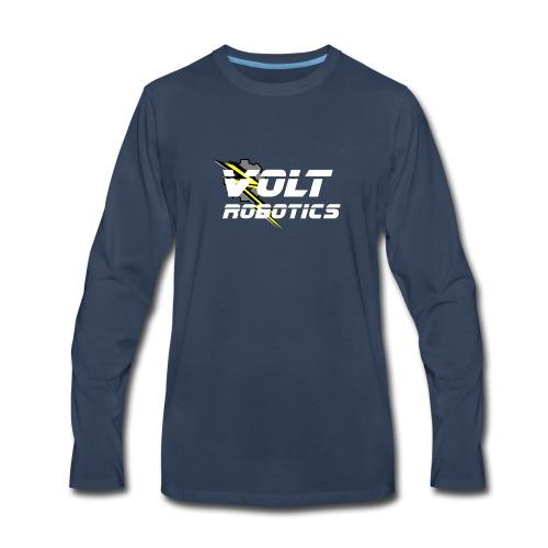 VOLT Robotics White Logo - Men's Premium Long Sleeve T-Shirt