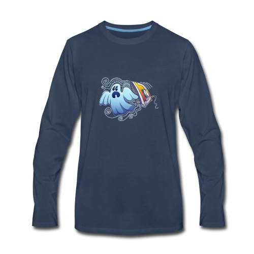Heated iron, the worst nightmare for an evil ghost - Men's Premium Long Sleeve T-Shirt