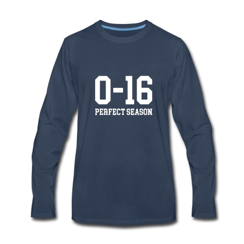 Detroit Lions 0 16 Perfect Season - Men's Premium Long Sleeve T-Shirt
