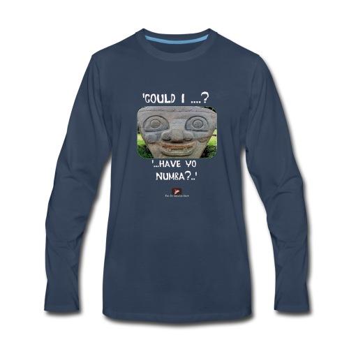 Alien Could I have your Number - Men's Premium Long Sleeve T-Shirt