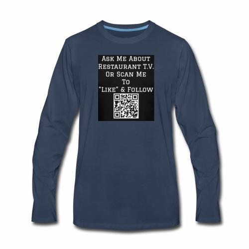 Restaurant T.V. - Back - Men's Premium Long Sleeve T-Shirt