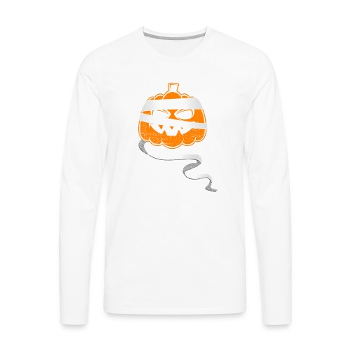 Halloween Bandaged Pumpkin - Men's Premium Long Sleeve T-Shirt