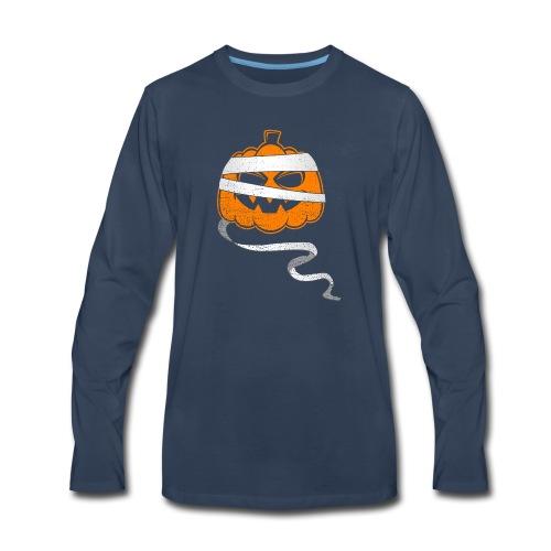 Halloween Bandaged Pumpkin - Men's Premium Long Sleeve T-Shirt