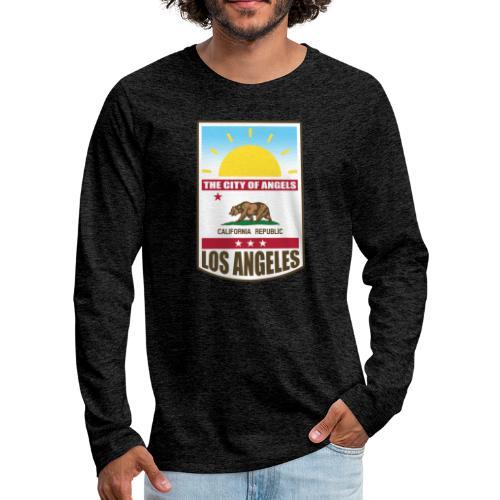 Los Angeles - California Republic - Men's Premium Long Sleeve T-Shirt