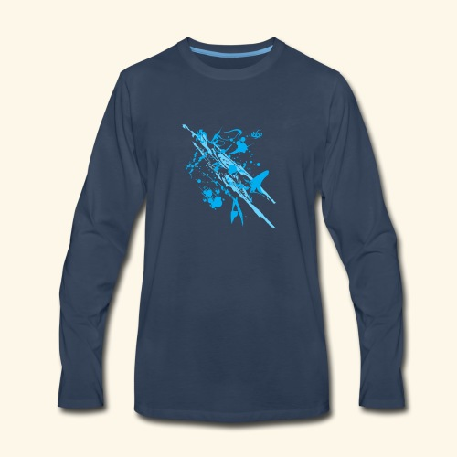 Blue Splash - Men's Premium Long Sleeve T-Shirt